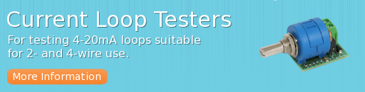 Current loop testers for testing 4-20 mA loops, suitable for 2 and 4-wire use